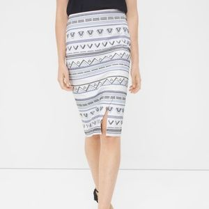 WHBM Embroidered Pencil Skirt | 4